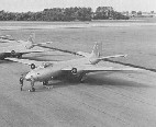 Canberra aircraft on the ground